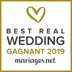 Gagnant du Best Real Wedding 2019 Mariages.net