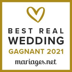 Gagnant du Best Real Wedding 2021 Mariages.net
