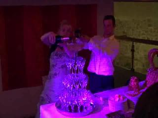 Fontaine à champagne lors d'un mariage