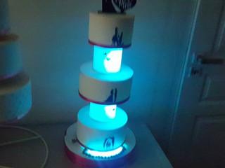 Wedding cake lumineux