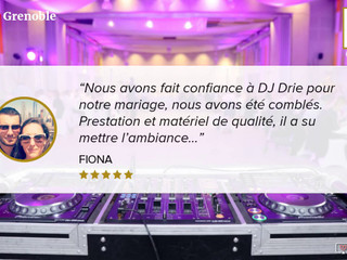 Wedding Award DJ Drie Grenoble by mariages.net