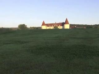 Le château vu d'un drone