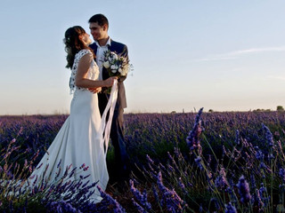 Couple session lavender fields valensole