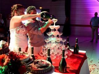 Desserts et cascade champagne