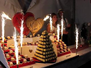 Arrivée du wedding cake