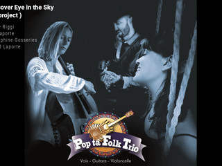 Voix-violoncelle-guitare cover Eye in the sky Pop ta folk trio