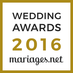 Weddreams Lyon, gagnant Wedding Awards 2016 mariages.net